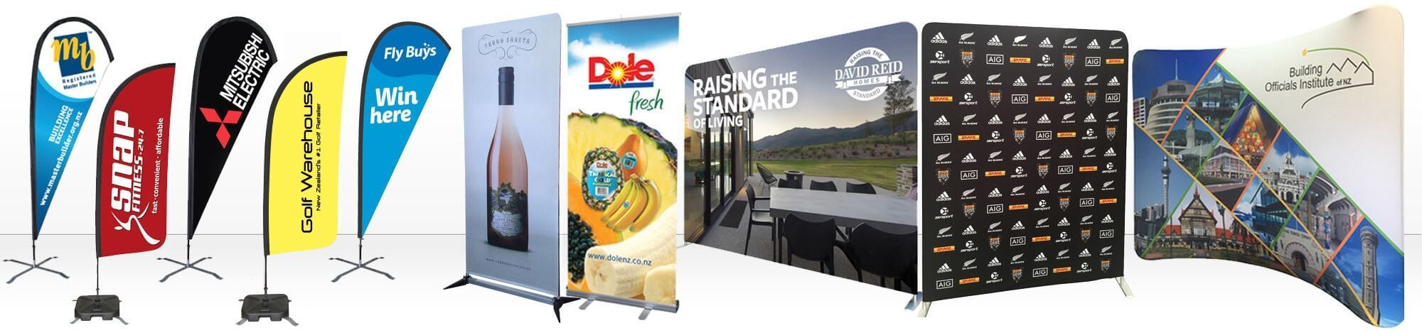 Expo Stands Nz : Flags and banners nz banner printing teardrop flags